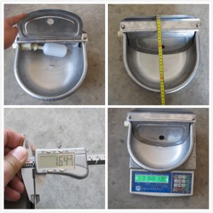 Cow Water Bowl Quality Control Inspection Service