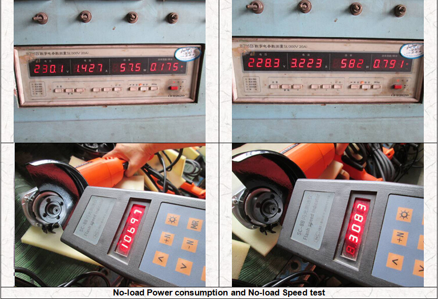 No-load Power consumption and No-load Speed test-Power tools quality inspection
