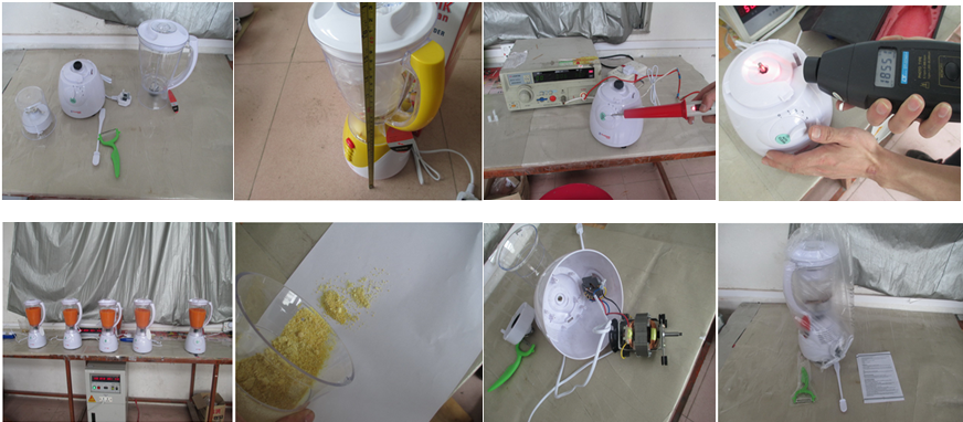 Juicer inspection/juice extractor/blender quality control