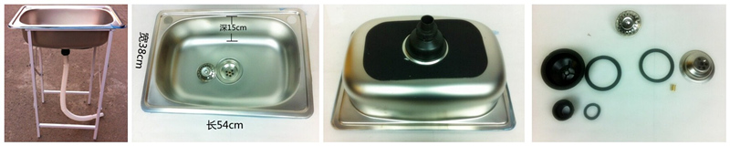 tainless steel sink inspection - kitchenware quality control: