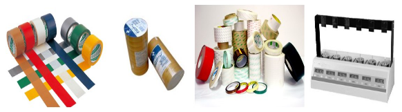 Adhesive tape inspection:rubberized fabric,adhesive plastic,gummed tape,hot melt