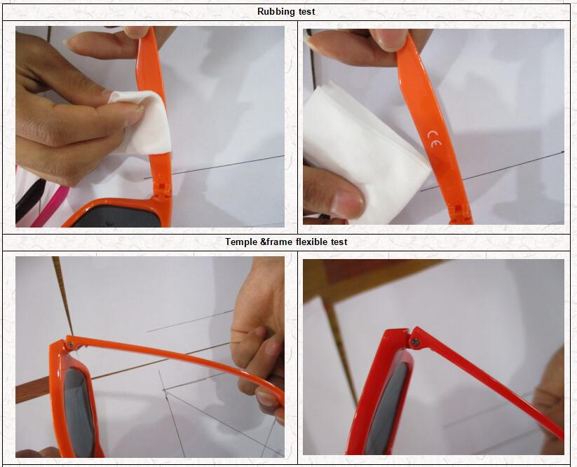 eyeglasses quality control -Temple &frame flexible test